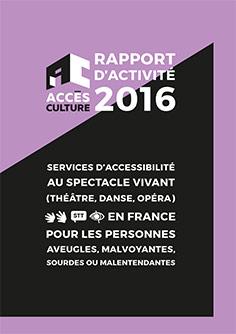 Rapport d'activité Accès Culture 2016