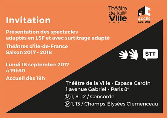 Invitation présentation des spectacles adaptés en LSF et avec surtitrage adapté